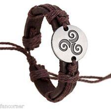 Teen Wolf bracelet cuir symbole triskele Teen wolf leather triskel bracelet