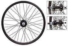 "Bicycle Wheels 20"" Pair Black 14mm Axles 36'S Alloy New #760"