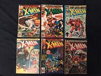X-MEN Bronze Age lot of 6 Comics: #88,128,139,140,Annual #3 & 11 - Average GD+