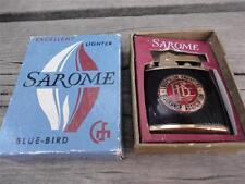 Vintage Sarome Blue Bird Locomotive Engineers Insurance Association Lighter MIB