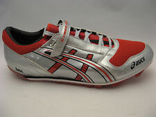 ASICS Mens Cyber Jump Track Shoes 14 Silver Red GN805 Track & Field Spikes NEW