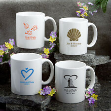 25 Personalized White Coffee Mug Wedding Party Shower Event Favors Bulk Lot