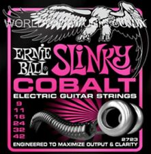 1 Set of Ernie Ball Super Slinky Cobalt 9 - 42 Electric Guitar Strings (2723)