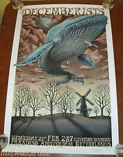Emek Art Print The Decemberists Poster 2007 Amsterdam Serigraph S/# 250 Doodled