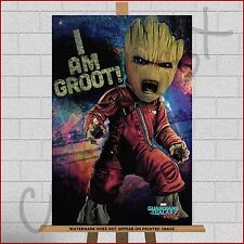 "Baby Groot Guardians Of The Galaxy 2 Framed Box Canvas Print A1 A2 A3 30""x20"""