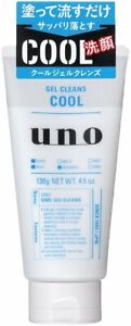 UNO Men's COOL Gel Cleans FACIAL Cleansing Wash 130g Shiseido Japan