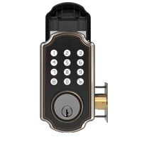 TURBOLOCK TL117 Smart Lock Keypad Voice Prompt Digital Deadbolt App eKeys Oil BZ