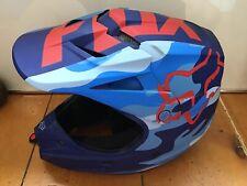 Fox V1 Racing Helmet Like New !!! Red White And Blue !!!