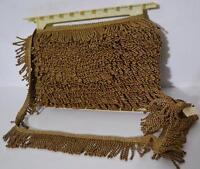 1 meter  VIENNA  BULLION Curtain Tassel Fringe Trim GOLD    6  cm- PL-3463