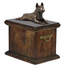 Pet Crémation Urne BULL TERRIER-Memorial Urne pour chien les cendres, Avec Chien Statue .14