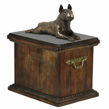 Mascota Urna crematoria Bull Terrier CONMEMORATIVO para de perro ashes ,con