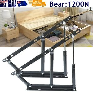 2Pcs 1200N Bed Lift Hydraulic Mechanisms Kits For Sofa Bed Oriented Hardware Box
