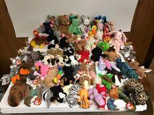 TY BEANIE BABIES LOT OF 60 ASSORTED BEANIES + 13 MINI MCDONALD'S MINI BEANIES