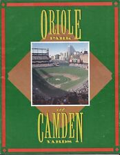Baltimore Orioles 1992 Official Team Program & Scorecard Camden Yards