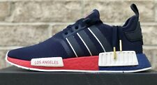 """ADIDAS NMD R1 SHOES """"LOS ANGELES"""" NAVY BLUE / SCARLET FY1162 NEW MENS NMD_R1"""