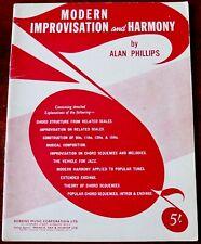ALAN PHILLIPS MODERN IMPROVISATION & HARMONY MUSIC BOOK (1961) CHORD STRUCTURE