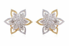 0.65 Cts Round Brilliant Cut Natural Diamonds Stud Earrings In Fine 14Karat Gold