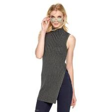 XL Sweater Rock Republic Gray Womens Stretch Ribbed Tunic Sleeveless New $50