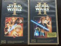 star wars Episode 1 and 2 vhs bundle