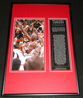Michael Jordan Chicago Bulls Framed 12x18 Photo Display