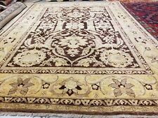 Masterpiece Vintage 1990s Natural Dye Wool Pile Legendary Oushak Rug 10x14ft