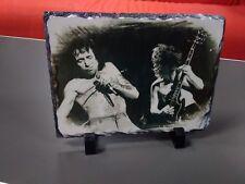 """Bon Scott Angus Young Acdc Arte Retrato pizarra 12x8"""" rara coleccionables"""