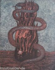 Museales Exemplar ! Ernst Fuchs (1930-2015) ORIGINAL Farbradierung #167 XV/XXIV