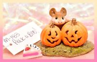 ❤️Wee Forest Folk M-183 Peek-A-Boo! Halloween Fall Pumpkin Retired Mouse WFF❤️