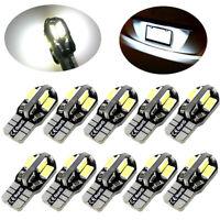 10Pcs Canbus Error Free T10 White 8 5730 SMD LED Car Side Wedge Light Lamp Bulbs