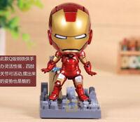 Marvel Avengers Iron Man Movie Mark 7 Tony Stark Set PVC Action Figure Model Toy