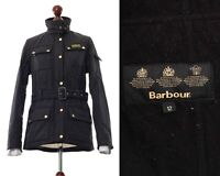 Women's BARBOUR INTERNATIONAL Quilted Quilt Jacket Coat Black Size UK 12 US 8