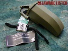 *Military Gentex Sunglass/Shooters Hard Plastic OD Green Case w/Belt Alice Clips