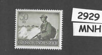 #2929  MNH stamp / 1944 / PF30 + PF20 Infantry / Military Wehrmacht WWII Germany