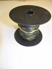 100 FOOT SPOOL 16 GAUGE GXL HI TEMP WIRE BLACK/YELLOW STRIPE AUTOMOTIVE   FEET