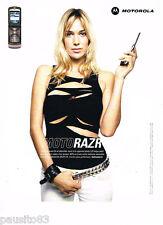 PUBLICITE ADVERTISING 085  2006  MOTOROLA   téléphonie mobile le MOTO RAZR V3i