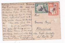 Brit. Kolonie Ostafrikanische Post Uganda: Karte von 1939 nach Schladebach