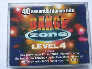 DANCE ZONE LEVEL FOUR (1994) - (DOUBLE CASSETTE TAPE) - EX+ Condition TESTED