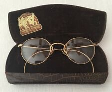 Vintage/Antique Gold Filled Wire Frame Eyeglasses With Case