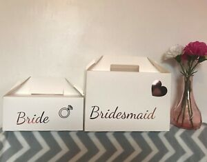 PERSONALISED WEDDING GIFT BOX ~ ROSE GOLD BLING ~ HEN PARTY BOX FAVOUR BOX BAG