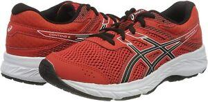 ASICS Unisex Kinder Contend 6 Running Shoe Fiery Red/Black GR 39 EU 01B1261I