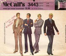 1970's VTG McCall's Men's Blazer-Suit Wardrobe Pattern 3443 Size 48 UNCUT
