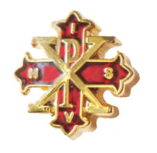 Rot Kreuz der Constantine Zweite Grad Freemasonry Freimaurer Anstecker