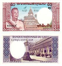 Laos 50 Kip P#12b (1963) Banque Nationale du Laos UNC