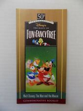 Disney Fun And Fancy Free Booklet Commemorative VHS 50th Anniversary 1997 HTF