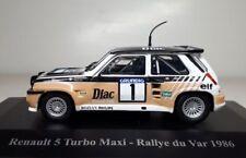 RENAULT 5 TURBO MAXI #1 RALLYE DU VAR 1986 ELIGOR HACHETTE 1/43 CHATRIOT PERIN