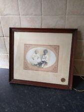 ANTIQUE Oak Picture Frame Children's Photograph Portrait Glass A.E. Lane Moseley