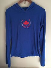 Jonano Canadian Design Yoga Hoodie Bamboo Cotton Blue Canadian Girls Size XL