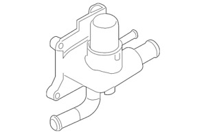 Genuine Ford Cooling System Bypass Line Adapter 6S4Z-8K556-A