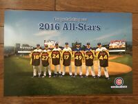 2016 Chicago Cubs Season Ticket Holder 11x17 All Star Game Poster Bryant Rizzo