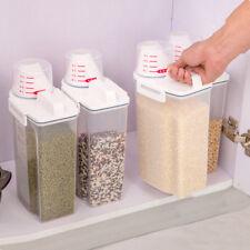 2L Plastic Cereal Dispenser Storage Box Kitchen Food Flour Grain Rice Container